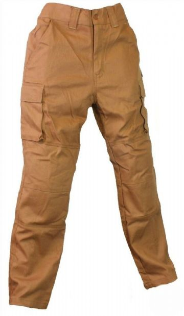 Qtech Race Motorcycle Motorbike Cargo Pants Jeans with Knee & Hip Armour - Tan